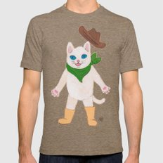 Woah! Kitty Tri-Coffee LARGE Mens Fitted Tee