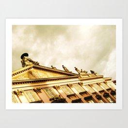 Baroque Sky and Building Art Print