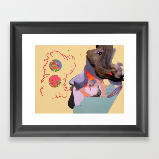 glasses of verity Framed Art Print