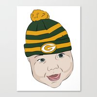 packers Canvas Prints featuring Baby Packers by MiakoWorld