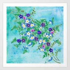Watercolor Spring Bouquet  Art Print