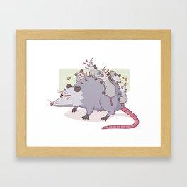 Mama Possum Framed Art Print