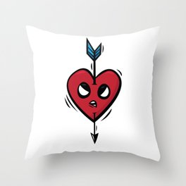 """Funny heart"" / First Throw Pillow"