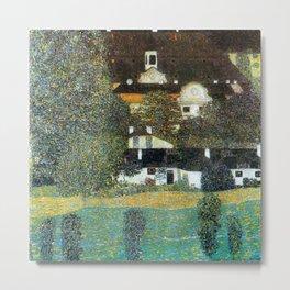 "Gustav Klimt ""Schloss Kammer on the Attersee II"" Metal Print"