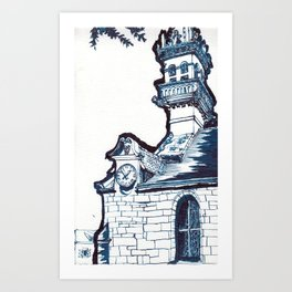 on a cool Sunday Art Print