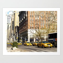 New York City cabs Art Print