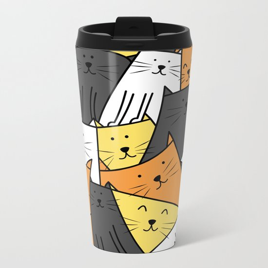 The Cats are Watching Metal Travel Mug