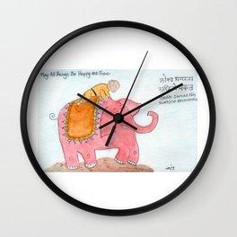 Lokah Samastah Sukhino Bhavantu Wall Clock