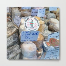 Cheese Market Paris Metal Print