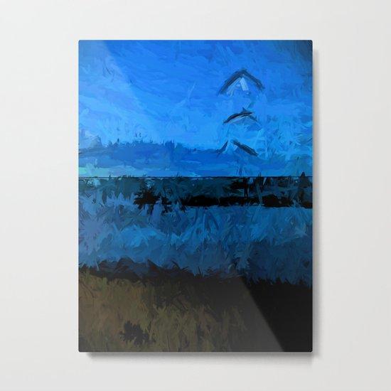 Blue Sea in the Blue Wind Metal Print