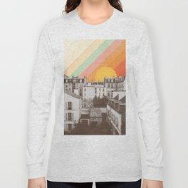 Rainbow Sky Above Paris Long Sleeve T-shirt