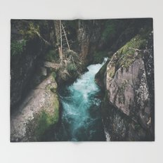 Avalanche Creek Throw Blanket
