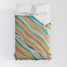 Tulum Summer Abstract Comforters
