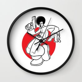 AfroVince Red w/Outline Wall Clock