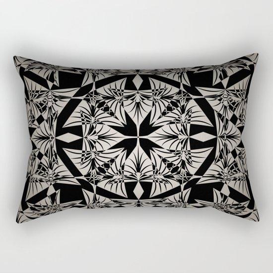 Art Deco 42 Black and gray ornament . Rectangular Pillow