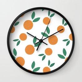 Minimalist Oranges Wall Clock