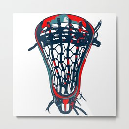 Lacrosse Vote Flow Metal Print