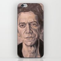 lou reed iPhone & iPod Skins featuring Lou by Charles Ellison