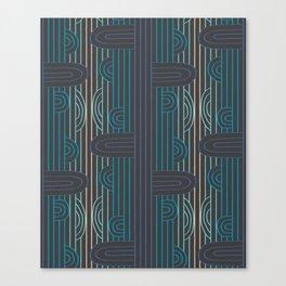 art deco stripe Canvas Print