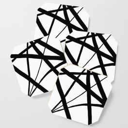 A Harmony of Lines and Shapes Coaster