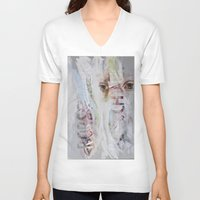 rorschach V-neck T-shirts featuring RORSCHACH by Rosalind Breen
