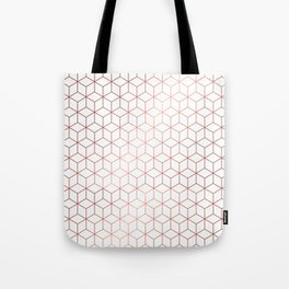 Gold Cubes Tote Bag