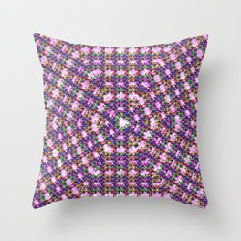 Kaleidoscope Finger Spinners Mandala Pattern Throw Pillow