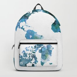 Design 121 Blue World Map Backpack