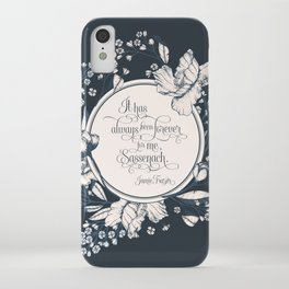 It has always been forever for me Sassenach. Jamie Fraser iPhone Case