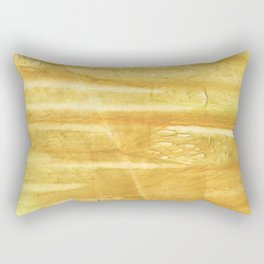 Sandy brown hand-drawn aquarelle Rectangular Pillow