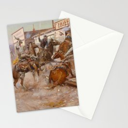 C.M. Russell Vintage Western In Without Knocking Stationery Cards