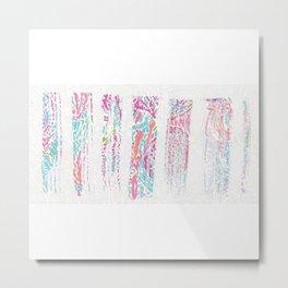 Pinstripes of Color Metal Print