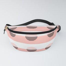 Horizons Geometric Sun Shine Stripe Design 7 - Peach Pink Fanny Pack