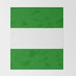 flag of rotterdam Throw Blanket