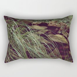 Red rocks in the forest I Rectangular Pillow