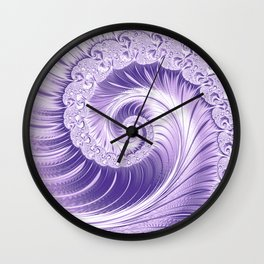 Ultra Violet Luxe Spiral Pattern | Trendy Color of the Year 2018 Wall Clock