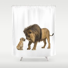 Dad and son Shower Curtain