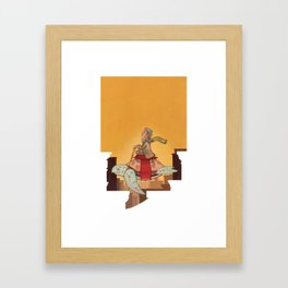 Flying Turtle Framed Art Print