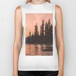 Forest Island at the Lake - Nature Photography Biker Tank
