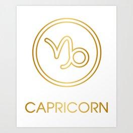 Capricorn Zodiac Sign Art Print