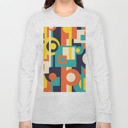 Funky Geometry (Modern Vibrant Color Palette) Long Sleeve T-shirt