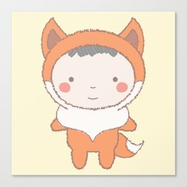 Cute Fox Kid Canvas Print
