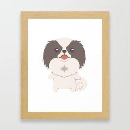 Japanese Chin Dog Gift Idea Framed Art Print
