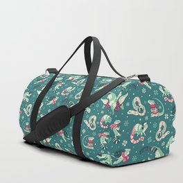 Winter herps in dark blue Duffle Bag
