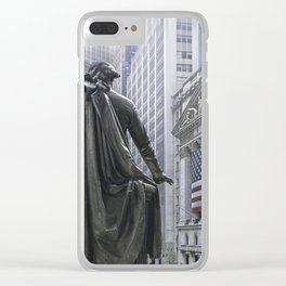 New York City's Wall Street Clear iPhone Case