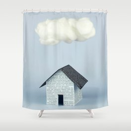 A cloud over the house Shower Curtain