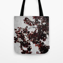 Black and Red Leaves Tote Bag