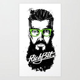 RichBit. Hipster Art Print