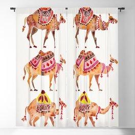 Camel Train Blackout Curtain