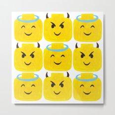 Emoji Minifigure Angel Devil Metal Print